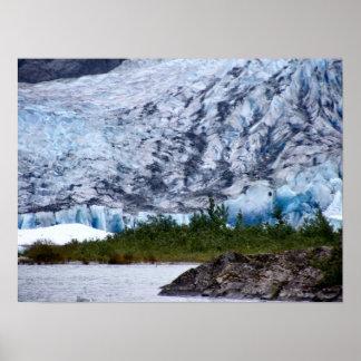 Alaskan Glacier Scenic Poster