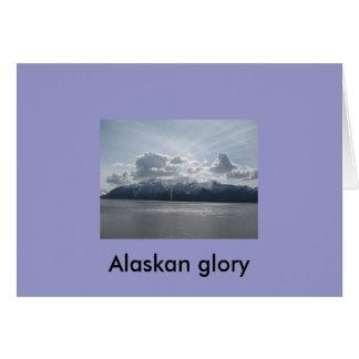 Alaskan glory greeting card