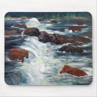 Alaskan Grizzly Bears Mouse Pad