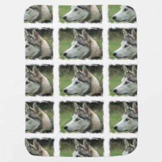 Alaskan Husky Baby Blankets