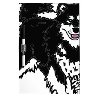 Alaskan Husky dog Dry Erase Board