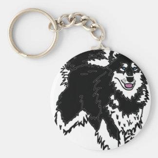Alaskan Husky dog Key Chain