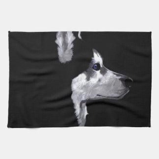 Alaskan Husky Dog Profile Customize Towel