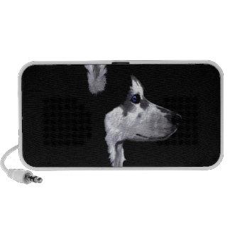 Alaskan Husky Dog Profile Customize Portable Speaker