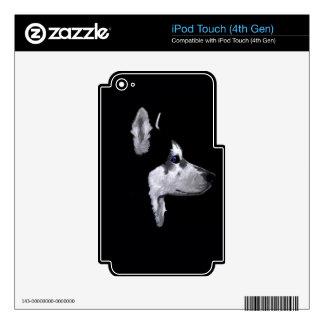 Alaskan Husky Dog Profile Customize Skin For iPod Touch 4G