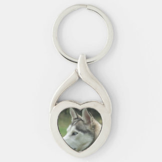 Alaskan Husky Key Chain