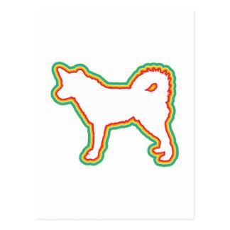 Alaskan Husky Postcard