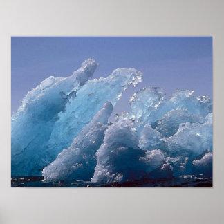 Alaskan Ice Berg Painting Print