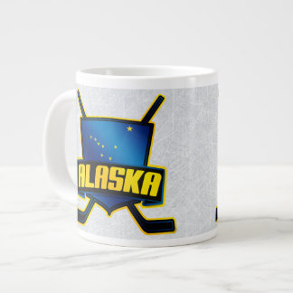 Alaskan Ice Hockey Flag Logo Mug