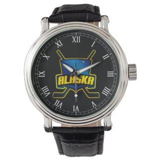 Alaskan Ice Hockey Flag Logo Wrist Watch