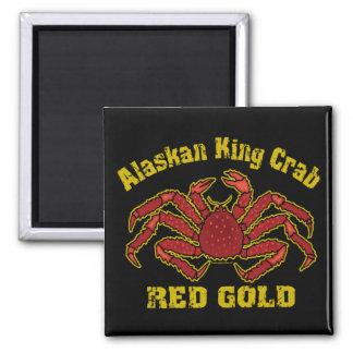 ALASKAN KING CRAB RED GOLD FRIDGE MAGNETS
