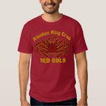 ALASKAN KING CRAB RED GOLD TEE SHIRT