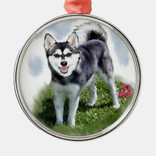 Alaskan Klee Kai Art Ornament