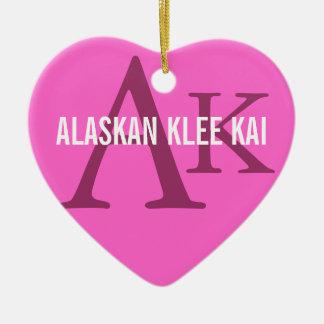 Alaskan Klee Kai Breed Monogram Ceramic Ornament
