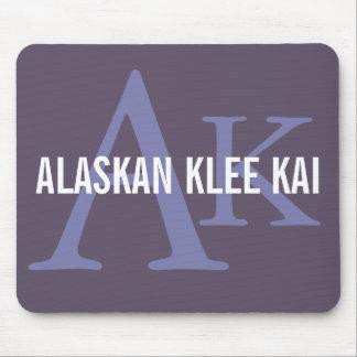 Alaskan Klee Kai Breed Monogram Mouse Pad
