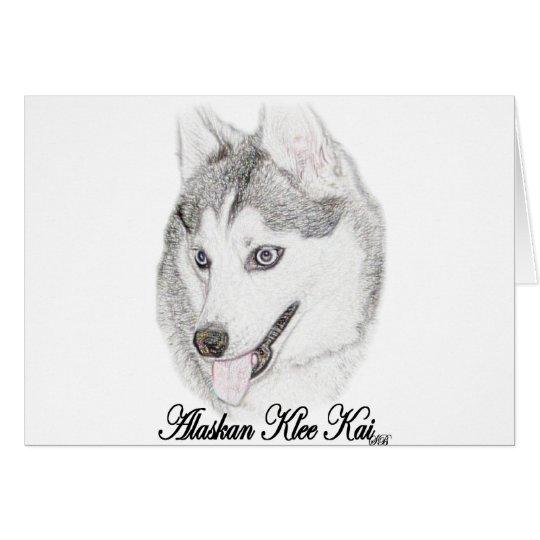 Alaskan Klee Kai Card