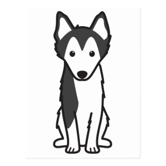 Alaskan Klee Kai Dog Cartoon Postcard