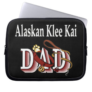 Alaskan Klee Kai Dog Dad Computer Sleeve