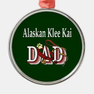 Alaskan Klee Kai Dog Dad Metal Ornament