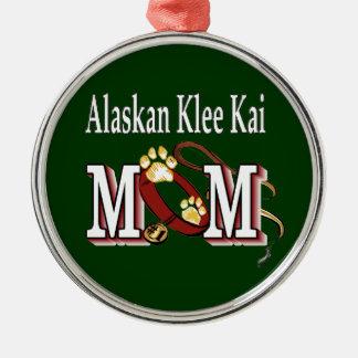 alaskan klee kai mom metal ornament