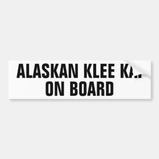 Alaskan Klee Kai on board Bumper Sticker