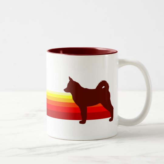 Alaskan Klee Kai With Stripes Mug