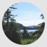 Alaskan Landscape Beautiful Alaska Photography Classic Round Sticker
