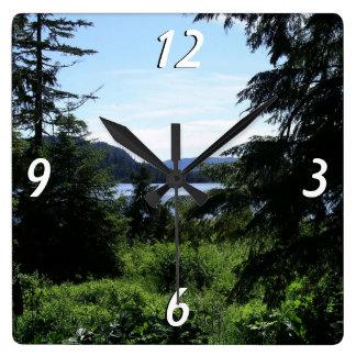 Alaskan Landscape Beautiful Alaska Photography Square Wall Clock