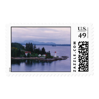 Alaskan Lighthouse Postage Stamp