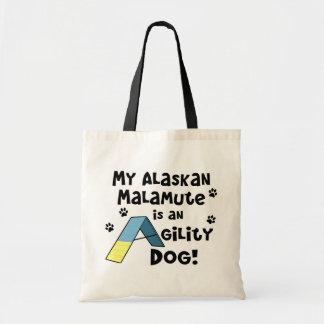 Alaskan Malamute Agility Dog Tote Bag
