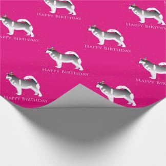 Alaskan Malamute Birthday Design Wrapping Paper