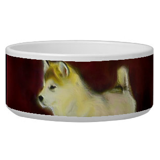 Alaskan malamute bowl