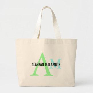 Alaskan Malamute Breed Monogram Bag