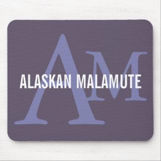 Alaskan Malamute Breed Monogram Mouse Pad