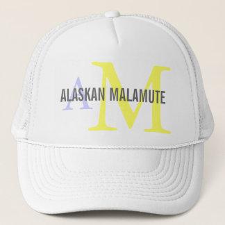 Alaskan Malamute Breed Monogram Trucker Hat