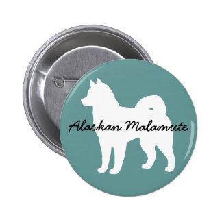 Alaskan Malamute 2 Inch Round Button