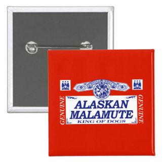 Alaskan Malamute 2 Inch Square Button