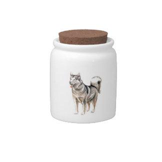 Alaskan Malamute Candy Jar
