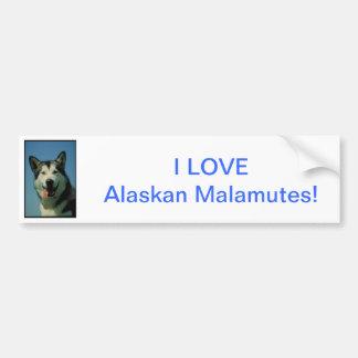 Alaskan Malamute Car Bumper Sticker