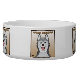 Alaskan Malamute Cartoon Heart Box Bowl