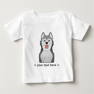 Alaskan Malamute Cartoon Personalized Baby T-Shirt