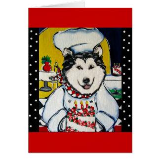 Alaskan Malamute Chef Cards