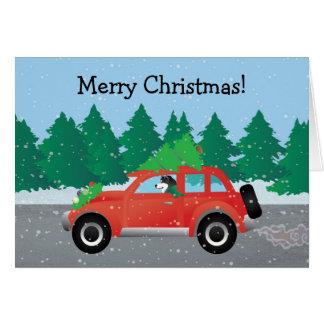 Alaskan Malamute Christmas Car Card