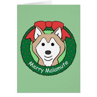 Alaskan Malamute Christmas Greeting Card
