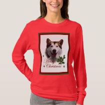 Alaskan Malamute Christmas Merry T-Shirt