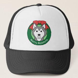 Alaskan Malamute Christmas Trucker Hat