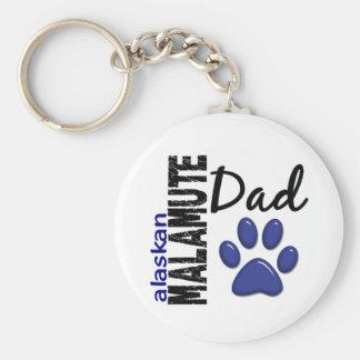 Alaskan Malamute Dad 2 Keychain