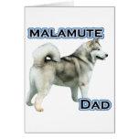 Alaskan Malamute Dad 4 Greeting Card