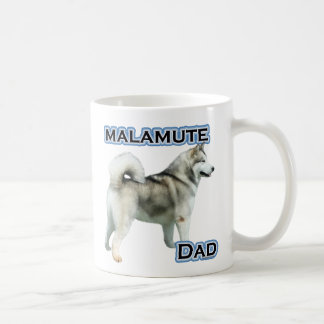 Alaskan Malamute Dad 4 Coffee Mugs