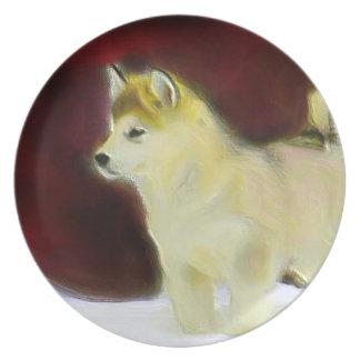 Alaskan malamute decorative plate